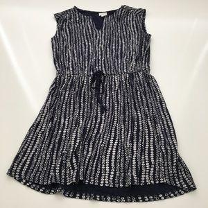 Caslon Blue & White Polka Dot Sleeveless Dress